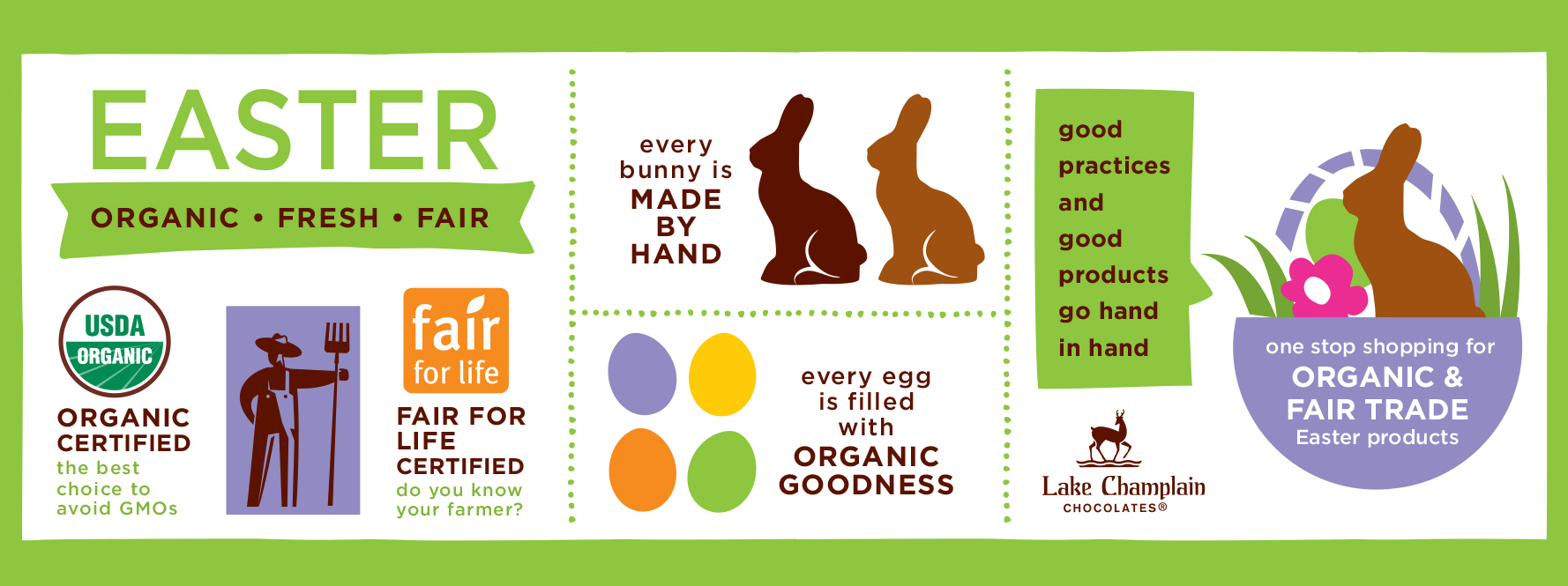 Every bunny is organic and fair trade certified