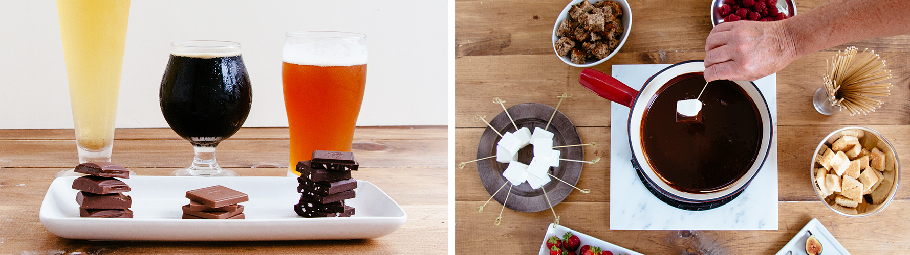 chocolate recipes and beer and chocolate pairing ideas.