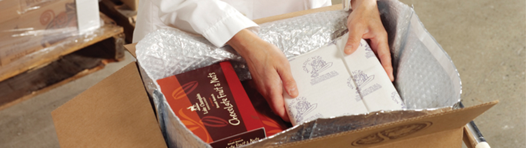 Carefully handpacking each box ensure delivery of only the highest quality chocolate.