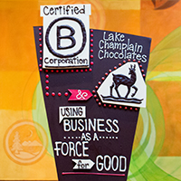 certifed B Corporation chocolate sculpture